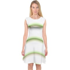 Abstract Background Capsleeve Midi Dress