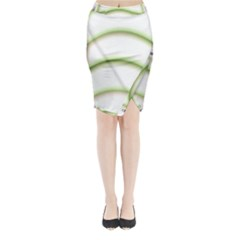 Abstract Background Midi Wrap Pencil Skirt