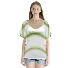 Abstract Background Flutter Sleeve Top