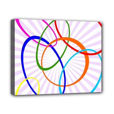 Abstract Background With Interlocking Oval Shapes Canvas 10  X 8