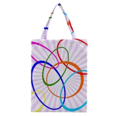 Abstract Background With Interlocking Oval Shapes Classic Tote Bag