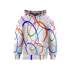 Abstract Background With Interlocking Oval Shapes Kids  Zipper Hoodie