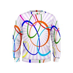 Abstract Background With Interlocking Oval Shapes Kids  Sweatshirt