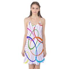 Abstract Background With Interlocking Oval Shapes Camis Nightgown