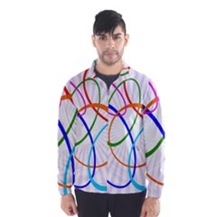 Abstract Background With Interlocking Oval Shapes Wind Breaker (Men)