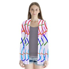 Abstract Background With Interlocking Oval Shapes Cardigans