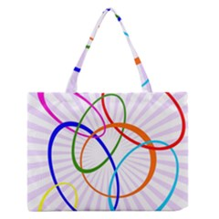 Abstract Background With Interlocking Oval Shapes Medium Zipper Tote Bag