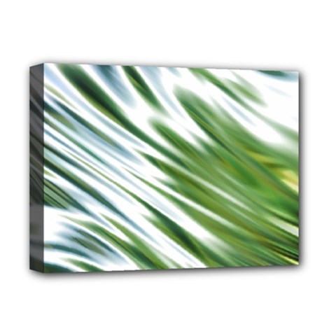 Fluorescent Flames Background Light Effect Abstract Deluxe Canvas 16  x 12