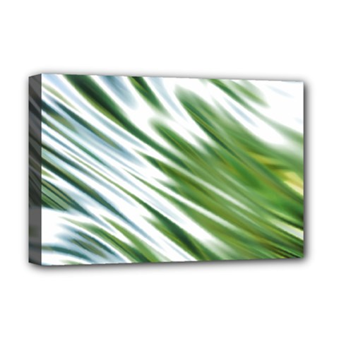 Fluorescent Flames Background Light Effect Abstract Deluxe Canvas 18  x 12