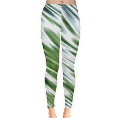 Fluorescent Flames Background Light Effect Abstract Leggings
