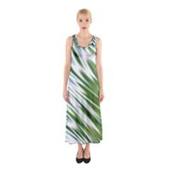 Fluorescent Flames Background Light Effect Abstract Sleeveless Maxi Dress