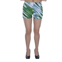 Fluorescent Flames Background Light Effect Abstract Skinny Shorts