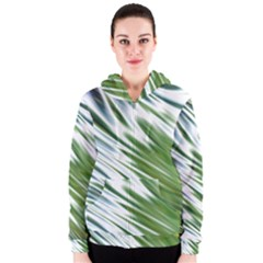 Fluorescent Flames Background Light Effect Abstract Women s Zipper Hoodie