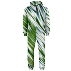 Fluorescent Flames Background Light Effect Abstract Hooded Jumpsuit (men)