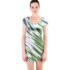Fluorescent Flames Background Light Effect Abstract Short Sleeve Bodycon Dress