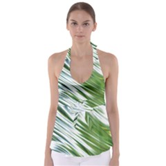 Fluorescent Flames Background Light Effect Abstract Babydoll Tankini Top