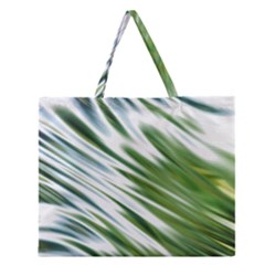 Fluorescent Flames Background Light Effect Abstract Zipper Large Tote Bag