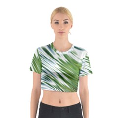 Fluorescent Flames Background Light Effect Abstract Cotton Crop Top