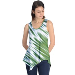 Fluorescent Flames Background Light Effect Abstract Sleeveless Tunic