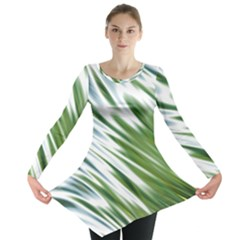 Fluorescent Flames Background Light Effect Abstract Long Sleeve Tunic