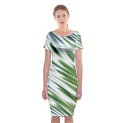 Fluorescent Flames Background Light Effect Abstract Classic Short Sleeve Midi Dress