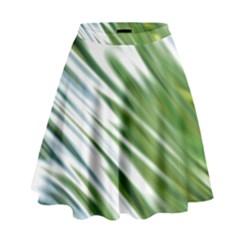 Fluorescent Flames Background Light Effect Abstract High Waist Skirt