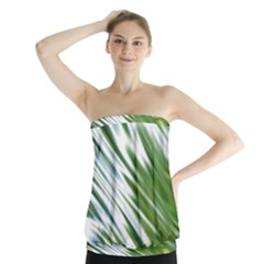 Fluorescent Flames Background Light Effect Abstract Strapless Top