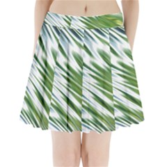 Fluorescent Flames Background Light Effect Abstract Pleated Mini Skirt