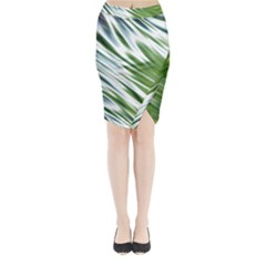 Fluorescent Flames Background Light Effect Abstract Midi Wrap Pencil Skirt