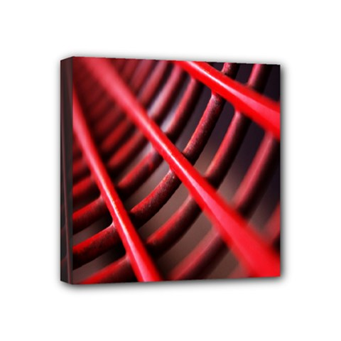 Abstract Of A Red Metal Chair Mini Canvas 4  X 4