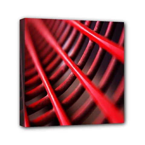 Abstract Of A Red Metal Chair Mini Canvas 6  x 6