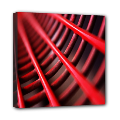 Abstract Of A Red Metal Chair Mini Canvas 8  x 8
