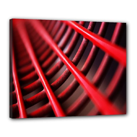 Abstract Of A Red Metal Chair Canvas 20  x 16