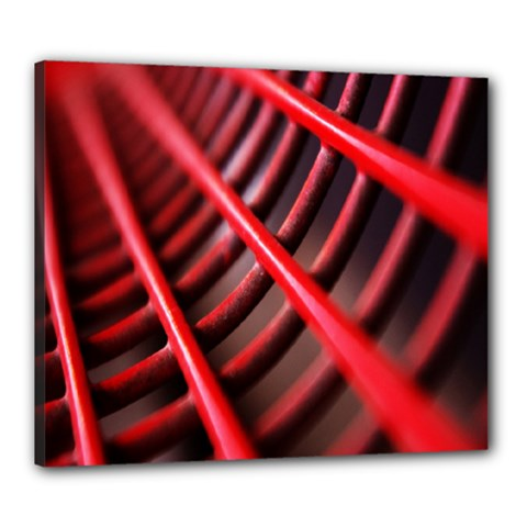 Abstract Of A Red Metal Chair Canvas 24  x 20