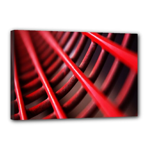 Abstract Of A Red Metal Chair Canvas 18  X 12