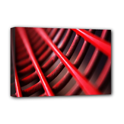 Abstract Of A Red Metal Chair Deluxe Canvas 18  x 12