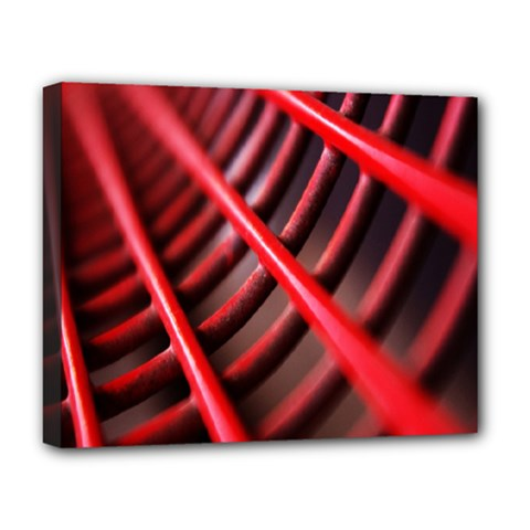Abstract Of A Red Metal Chair Deluxe Canvas 20  x 16