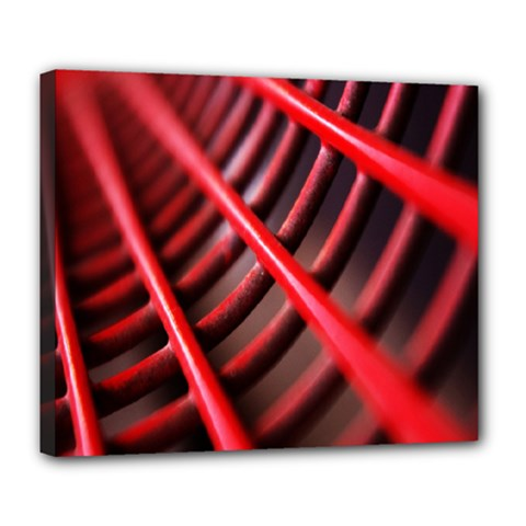 Abstract Of A Red Metal Chair Deluxe Canvas 24  x 20
