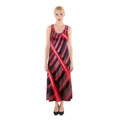 Abstract Of A Red Metal Chair Sleeveless Maxi Dress