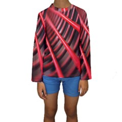 Abstract Of A Red Metal Chair Kids  Long Sleeve Swimwear