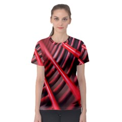 Abstract Of A Red Metal Chair Women s Sport Mesh Tee