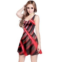 Abstract Of A Red Metal Chair Reversible Sleeveless Dress