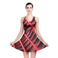 Abstract Of A Red Metal Chair Reversible Skater Dress