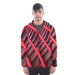 Abstract Of A Red Metal Chair Hooded Wind Breaker (men)