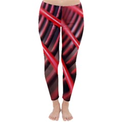 Abstract Of A Red Metal Chair Classic Winter Leggings