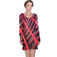 Abstract Of A Red Metal Chair Long Sleeve Nightdress