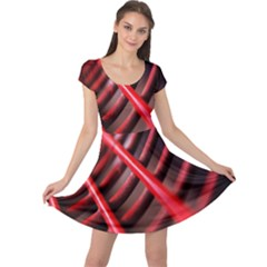 Abstract Of A Red Metal Chair Cap Sleeve Dresses
