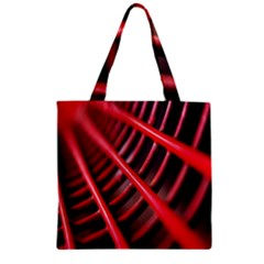 Abstract Of A Red Metal Chair Zipper Grocery Tote Bag