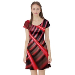 Abstract Of A Red Metal Chair Short Sleeve Skater Dress