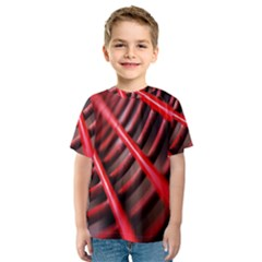 Abstract Of A Red Metal Chair Kids  Sport Mesh Tee